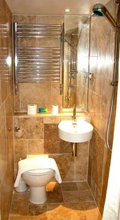Very small all in one bathroom Great idea for a Mud room