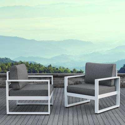 Reversible - White - Aluminum - Outdoor Lounge Furniture - Patio