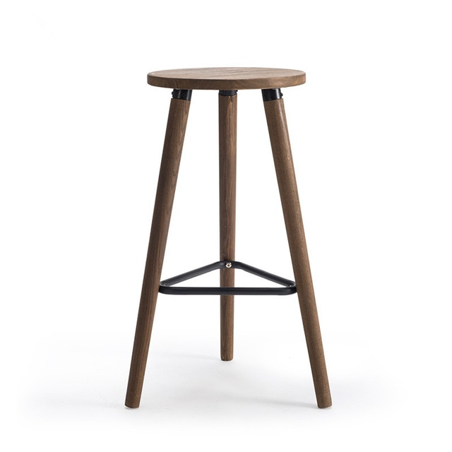 Industrial Vintage Antique Bar Stool Chair Height 66cm Round Seat