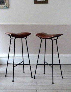 Vintage Bar Stools With Backrest Best Industrial Stool Images On