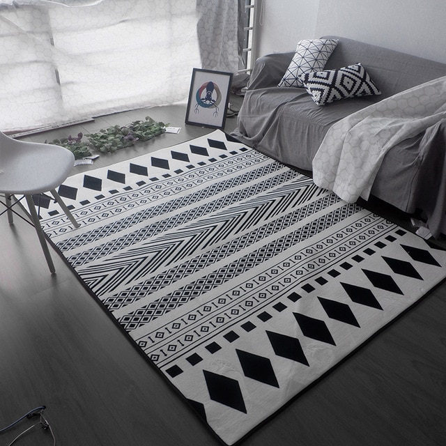 Kingart Big Size Carpet Sofa Antique Carpet Thick Floor Blanket Yoga