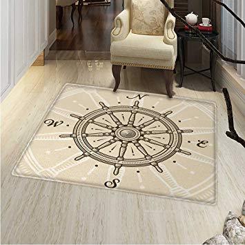 Amazon.com: Ships Wheel Area Rug Carpet Retro Ship Wheel Antique