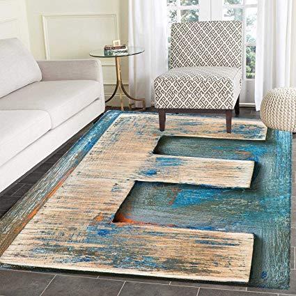 Amazon.com: Letter E Area Rug Carpet Antique Alphabet Letters