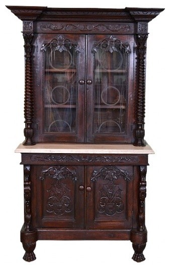 Consigned Antique Cupboard Cabinet, 19th Century Scotland - China