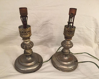 Antique table lamps   Etsy