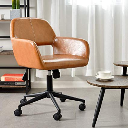 Amazon.com: Aingoo Vintage Office Chair Mid Back Swivel/Rolling