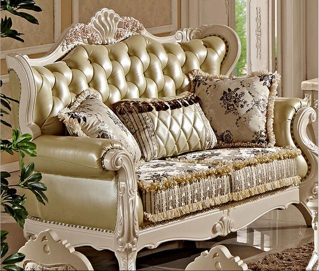 Villa antique sofa set designs FC8800-in Living Room Sofas from