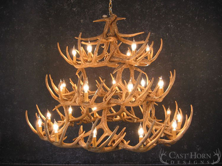 Whitetail Deer 42 Antler Chandelier | Cast Horn Designs