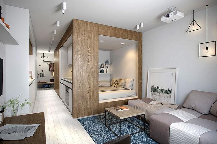 50 Small Studio Apartment Design Ideas (2019) u2013 Modern, Tiny