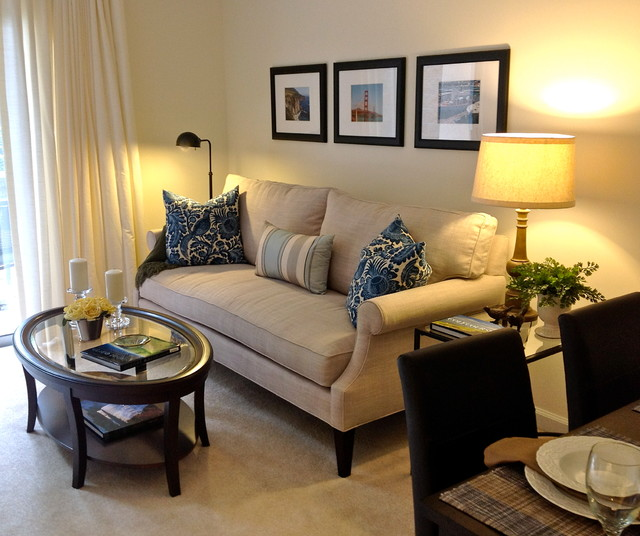 Small Apartment Living - Contemporary - Living Room - Raleigh - by