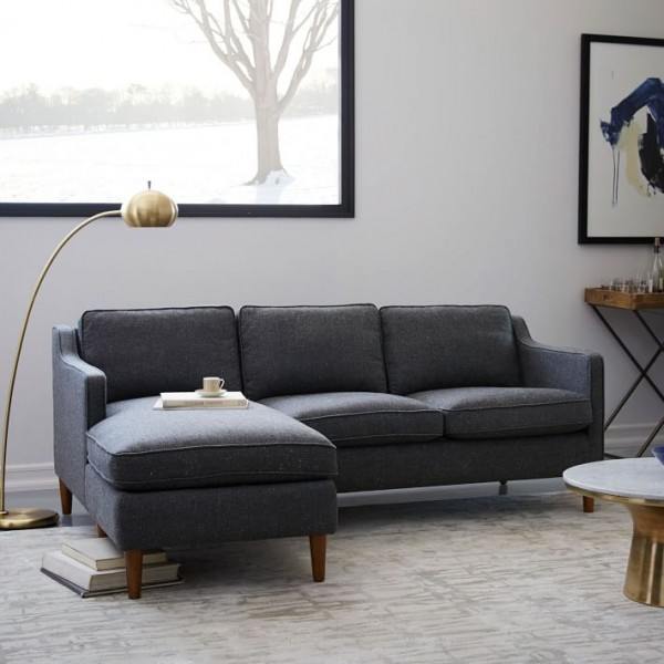 Apartment Sectional Sofa Grey u2014 Future Media : Apartment Sectional