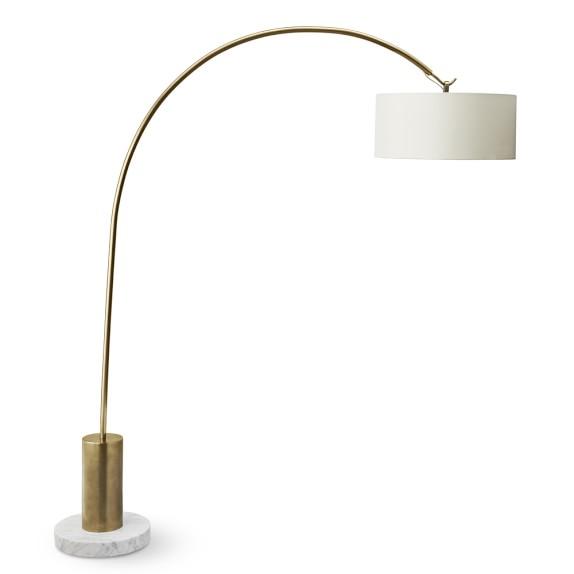 Arc Floor Lamp, Antique Brass | Williams Sonoma