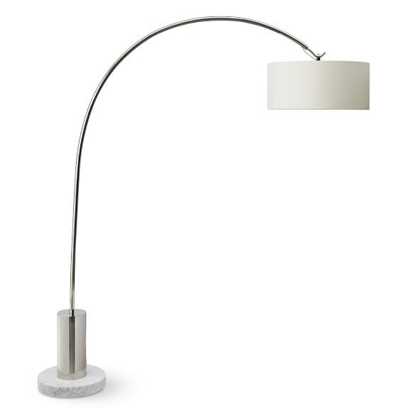 Arc Floor Lamp, Polished Nickel | Williams Sonoma