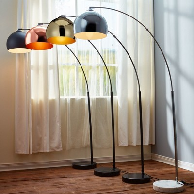 Versanora - Arquer Arc Floor Lamp With Rose Gold Finished Shade And