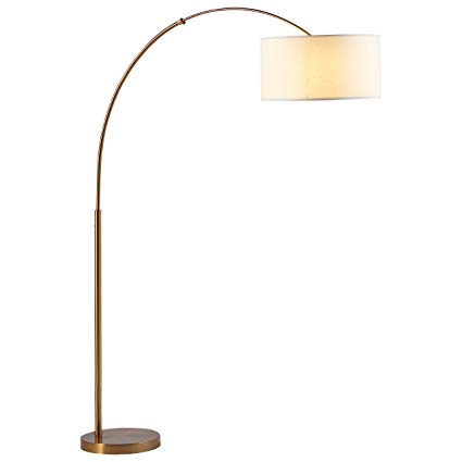 Rivet Brass Arc Floor Lamp, 76