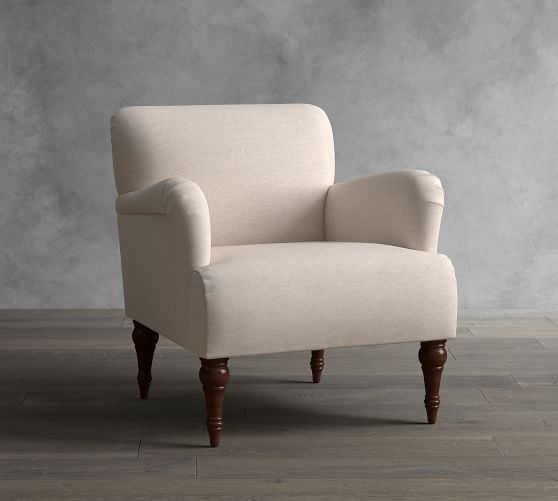 Hadley Upholstered Armchair | Pottery Barn