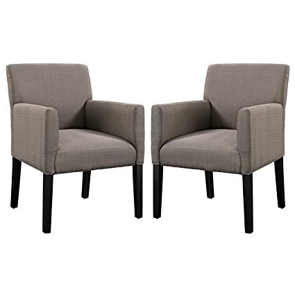 Amazon.com: Modern Contemporary Armchair Set of Two Gray: Kitchen