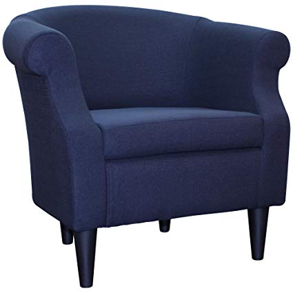 Amazon.com: Upholstered Chair, Barrel Back Armchair, Contemporary
