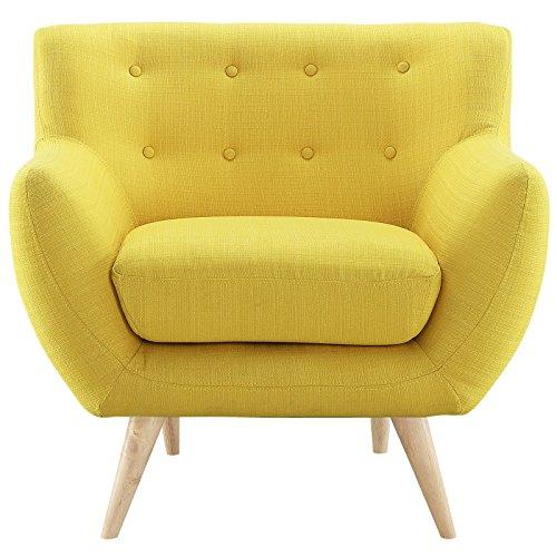 Amazon.com: Modern Contemporary Armchair, Yellow Fabric: Kitchen