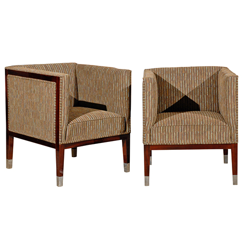 Square Back Art Deco Chairs - J. Tribble
