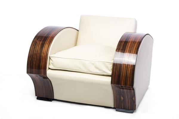 Art Deco South African Macassar Club Chair / Armchair u2013 Le Deco Style