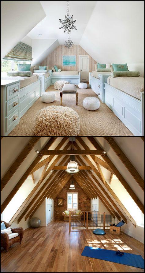 Beautiful Attic Design Ideas   Tiny Home   Pinterest   Attic design