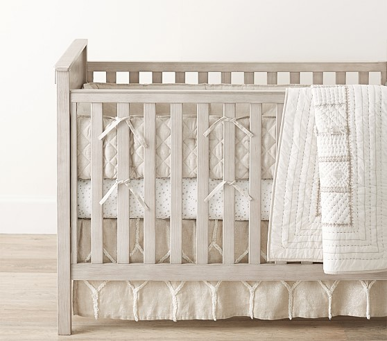 Micah Metallic Baby Bedding | Pottery Barn Kids