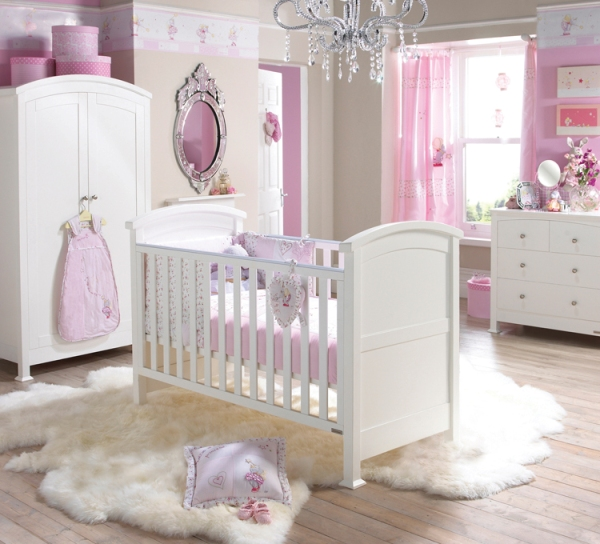 Bed Ideas: Fabulous Stunning White Theme Baby Bedroom Furniture