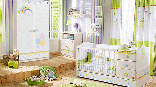 Decorate the bedroom of your baby with unique baby bedroom ...
