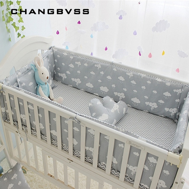 Newborn Crib Bedding Set 5pcs Bed Linen 100% Cotton 5pcs Baby Cot