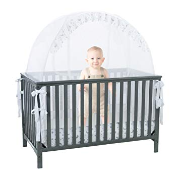 Amazon.com : Baby Crib Safety Pop up Tent: Premium Baby Bed Canopy