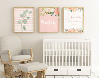 Baby girl nursery | Etsy