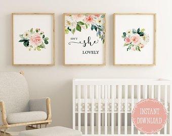 Baby girl nursery | Etsy
