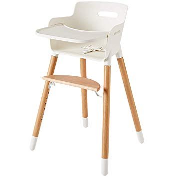Amazon.com : Wooden High Chair for Babies and Toddlers - with