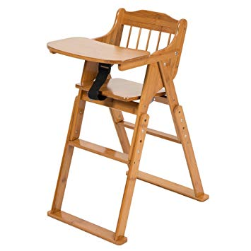Amazon.com : ELENKER Wood Baby High Chair with Tray. 3 Gear
