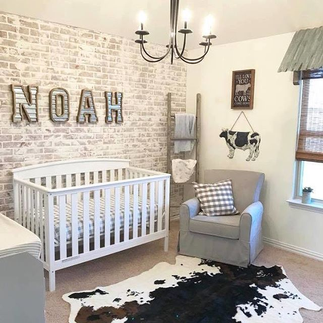 This sweet farmhouse-inspired nursery is just waiting on its baby