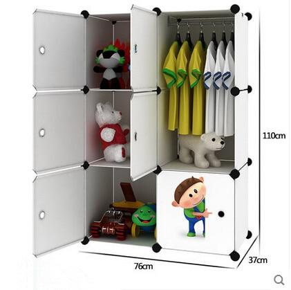 Simple children's baby wardrobe lockers finishing cabinet baby