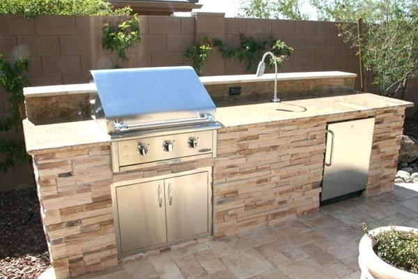 Standard Barbecue With Flagstone Counter Tops And Stainless Steel