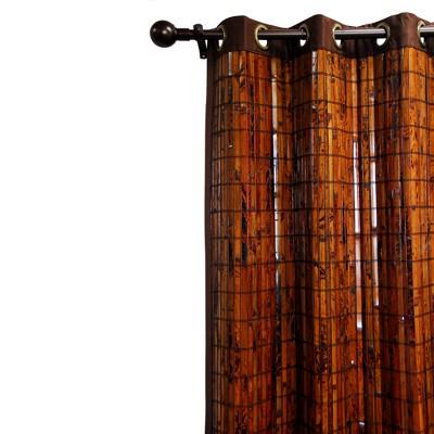 Curtain Panel Bamboo Grommet - Versailles : Target