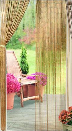 Natural Plain Bamboo Beaded Curtain - That Bohemian Girl