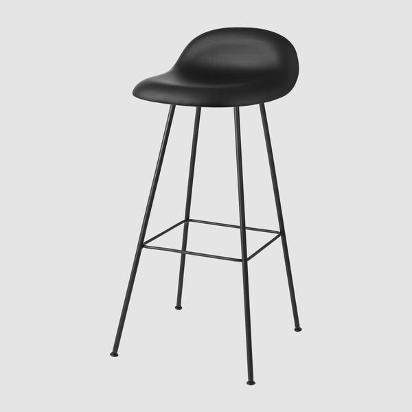 3D Bar Stool - Fully Upholstered - 75 cm - Center base u2013 GUBI Webshop
