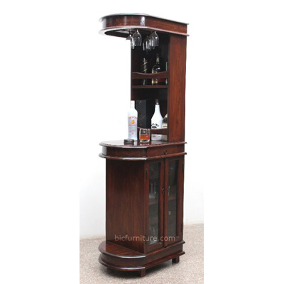 Sleek Tall Bar Cabinet for Home | Indian Design Bar Furniture