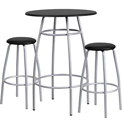 Amazon.com: Flash Furniture Bar Height Table and Stool Set: Kitchen