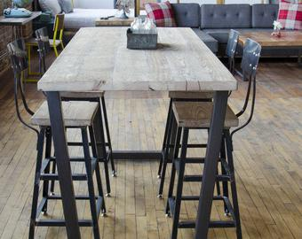 Bar height table   Etsy
