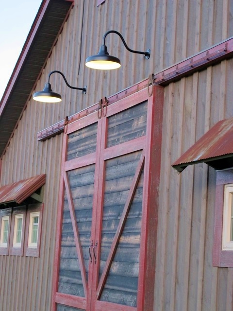 Classic Gooseneck Barn Lights Lend Authenticity to New Build | Blog