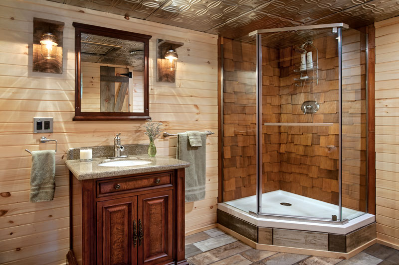 Log Home Bathroom Design Ideas
