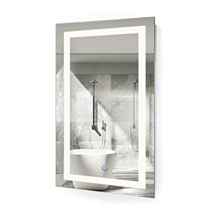 Amazon.com: Krugg LED Bathroom Mirror 18 Inch X 30 Inch | Lighted