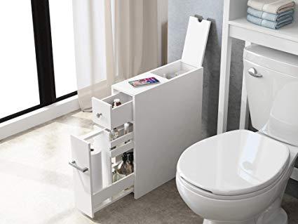 Amazon.com: Spirich Home Slim Bathroom Storage Cabinet, Free