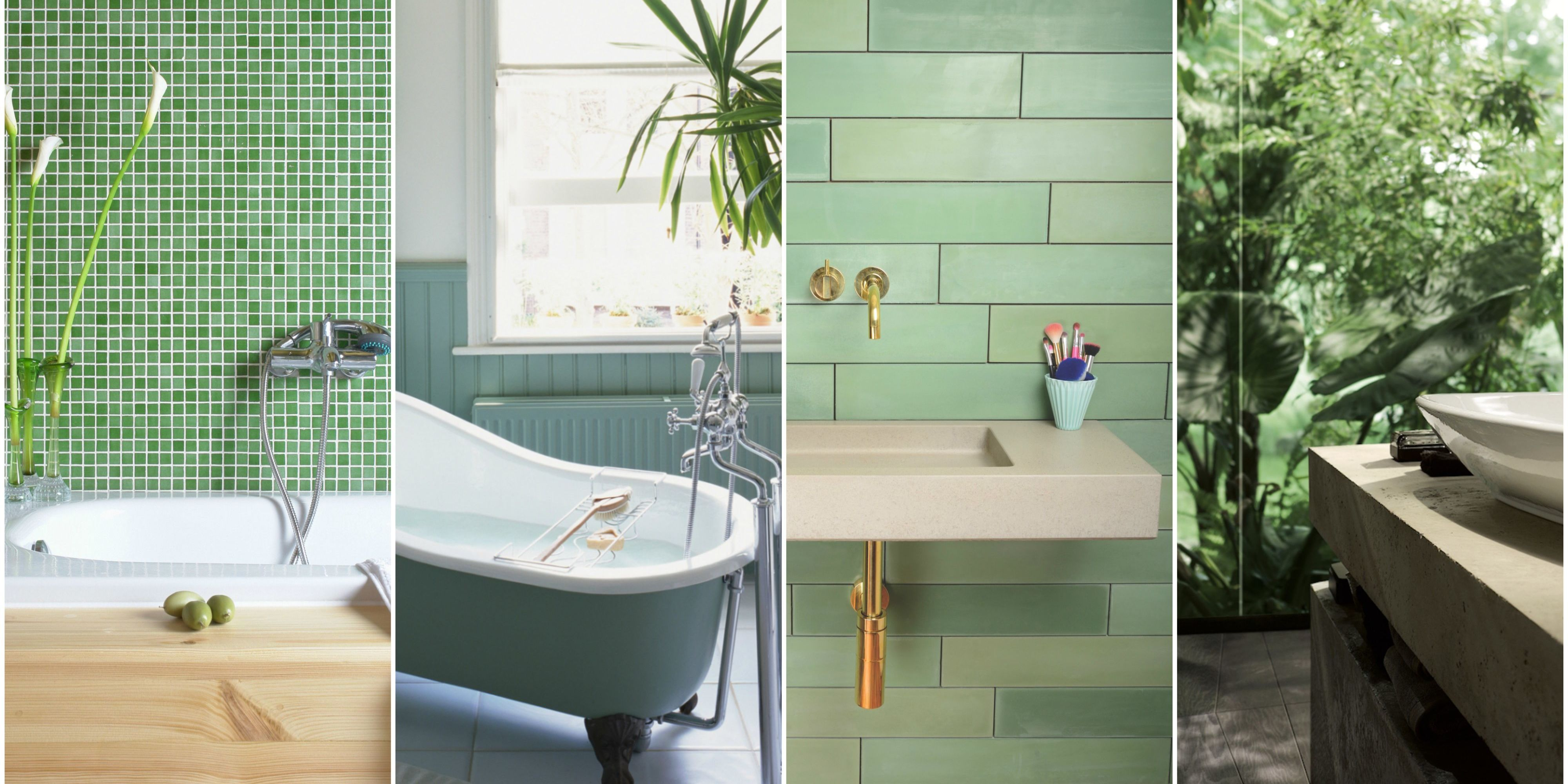 7 Green Bathroom Decor Ideas - Designs, Furniture and Accessories