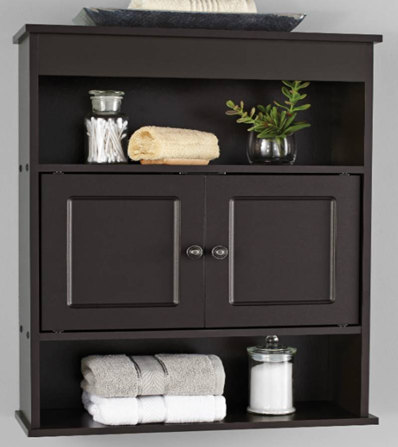 Mainstays Bathroom Wall Cabinet, Espresso - Walmart.com